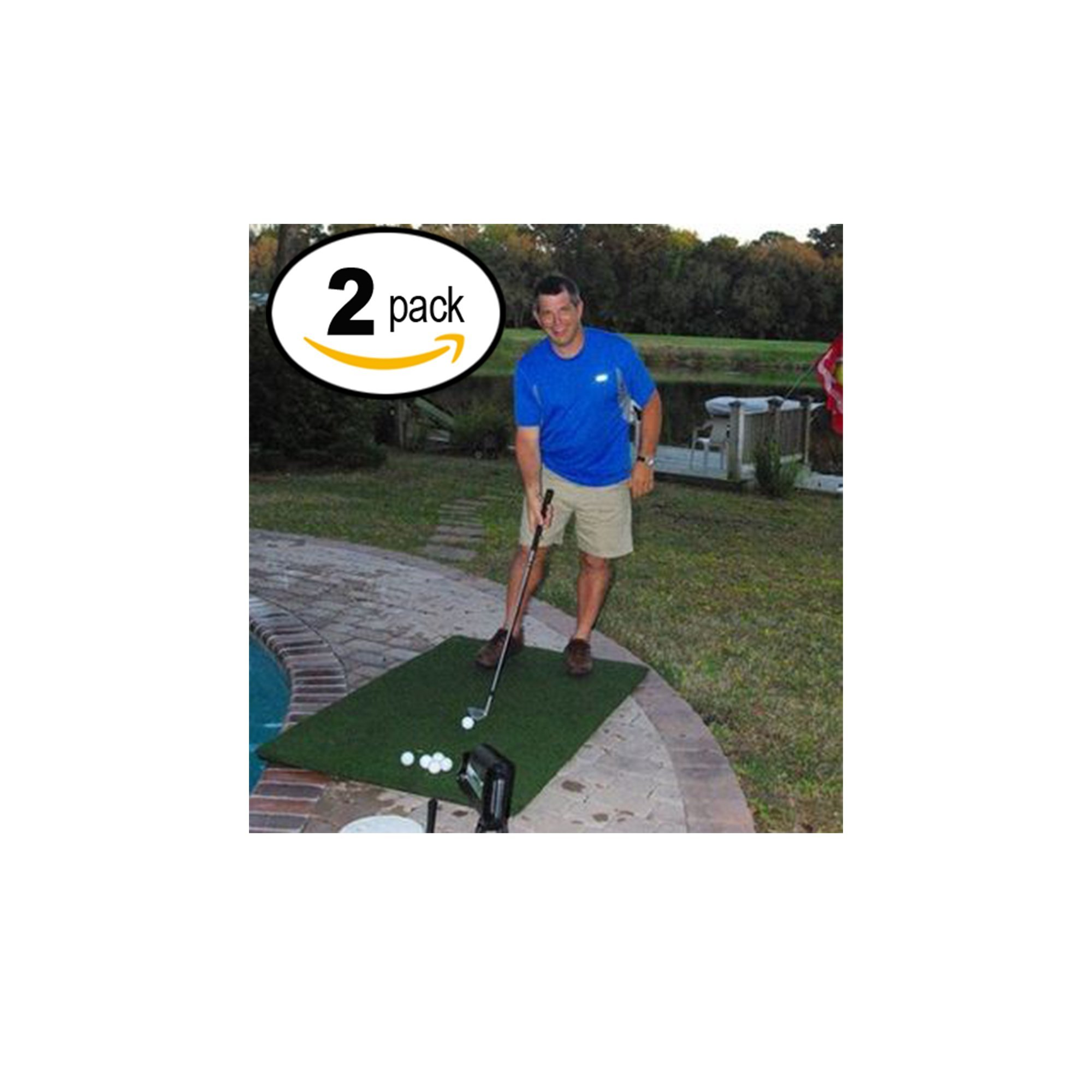 Country Club Elite Real Feel Golf Mats 3' X 5' (2)