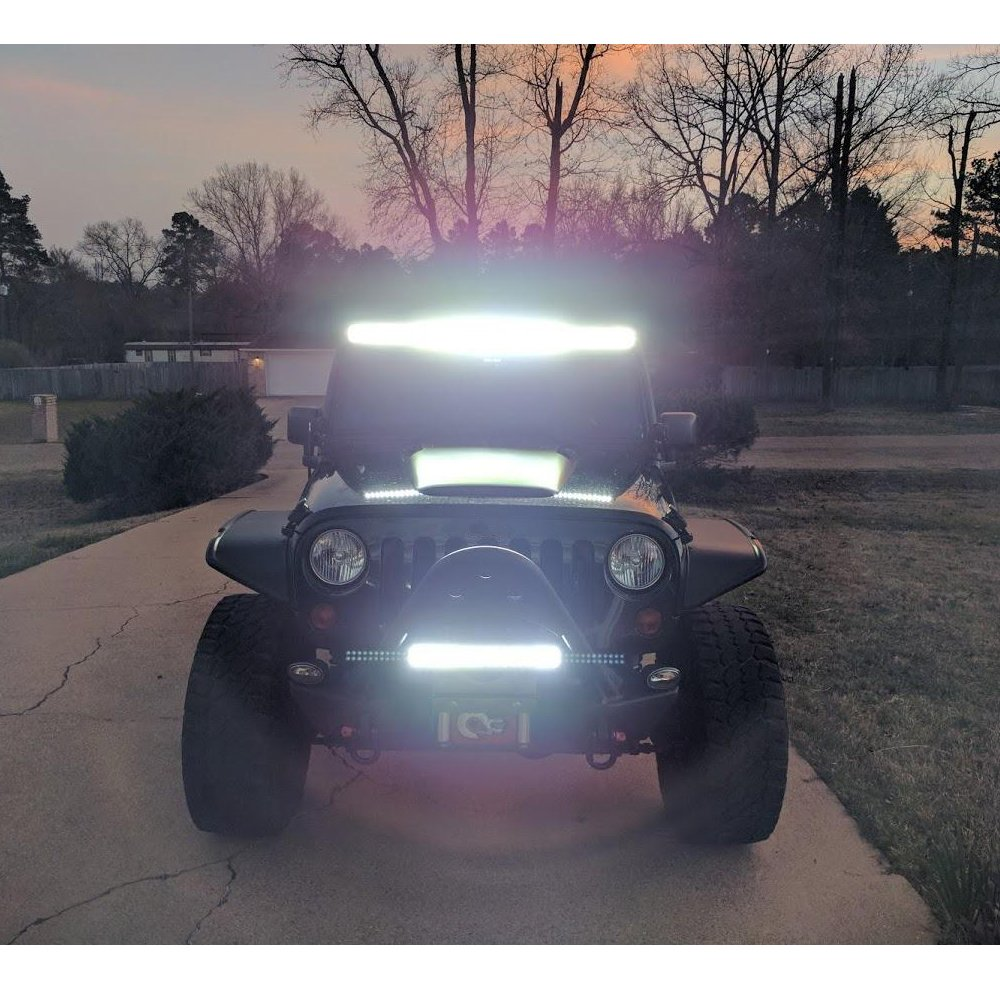 "Nilight 300w 52"" Jeep Wrangler LED Light Bar - best off-road lights for jeep wrangler"