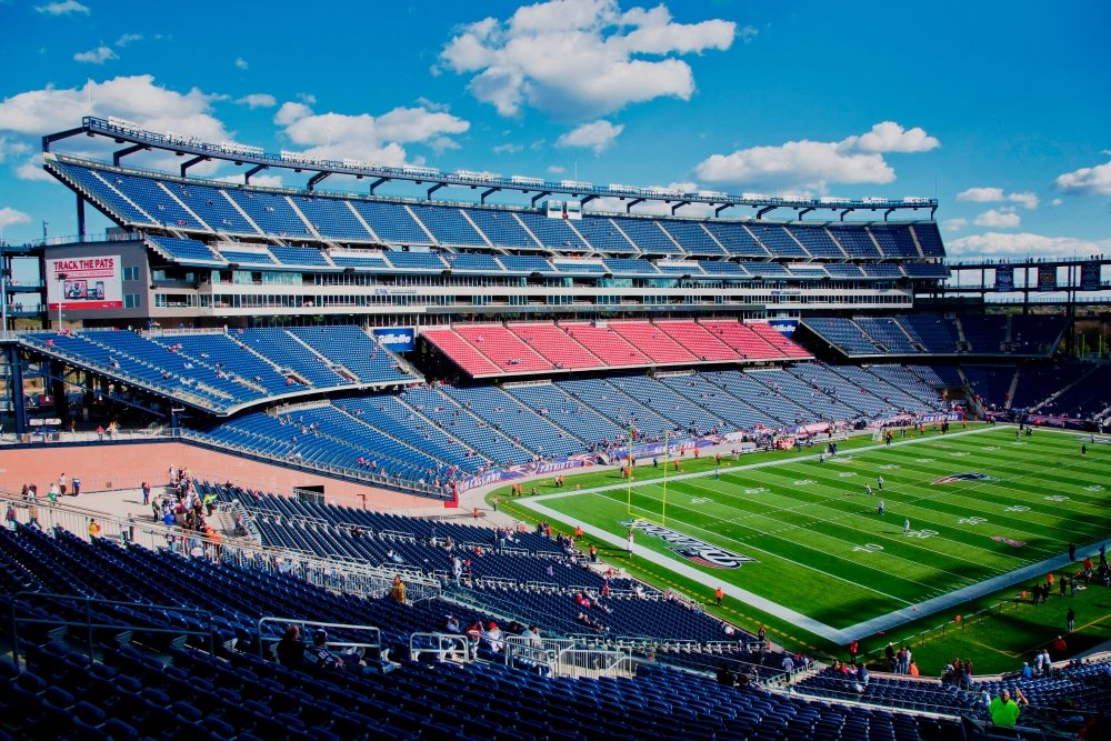 Posterazzi Elevated View of Gillette Stadium Home of Super Bowl Champs New England Patriots NFL Team Boston MA Poster Print by Panoramic Images (36 x 24) Varies