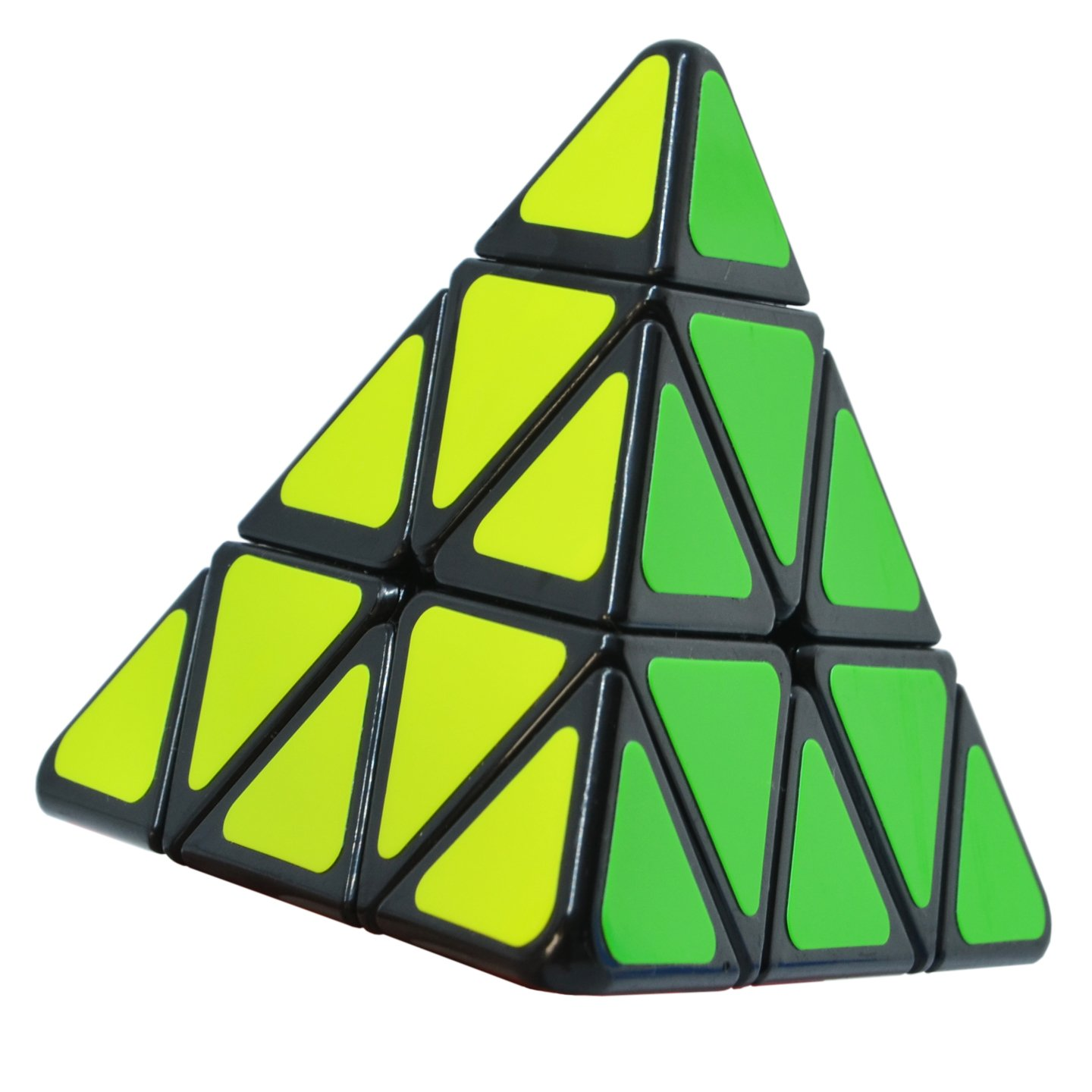 Maomaoyu Pyraminx Speed Cube 2x2 2x2x2 Pyramid Triangle Smooth Magic Cube 3D Puzzle Twist Education Toys for Adults & Kids (Black)