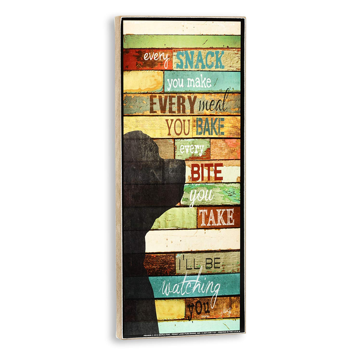 Plum Hill Every Snack You Make, Every Bite You Take, I'll Be Watching You Decorative Wall Sign