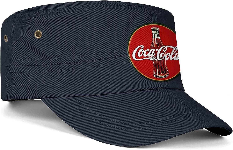 Coca Cola Old Logo Army Cap Six Panel Distressed Sund Snapback Cap Men Women