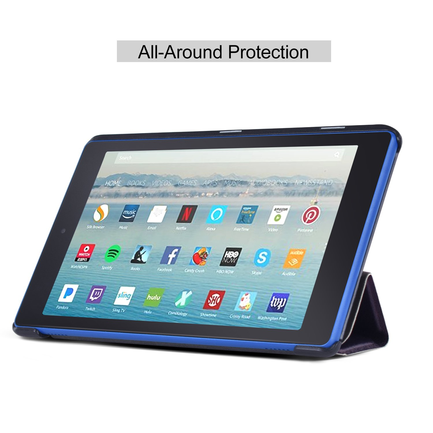 Dopup Fire HD 8 Case Tablet(7th Generation,2017 Release) Stand Protective Smart Cover with Auto Sleep/Wake(Color Fun)