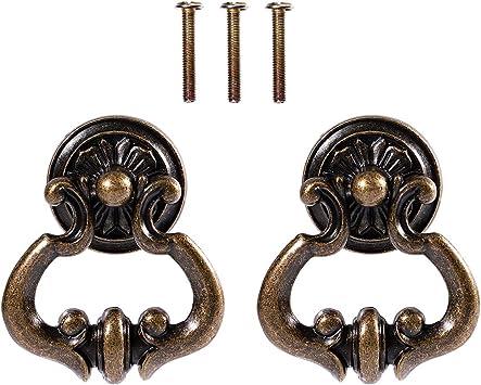 Pair Of Cabinet Door Handles Antique Brass Dresser Pulls Drawer Pull Handles Shabby Chic Furniture Cupboard Pull Handle Hardware
