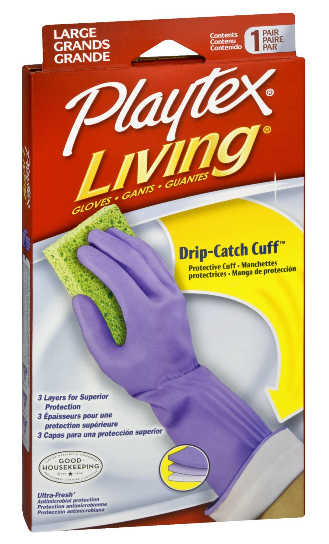 Playtex Gloves Living Premium Protection, Large 1 Pair (Pack of 72) by Playtex (Image #1)