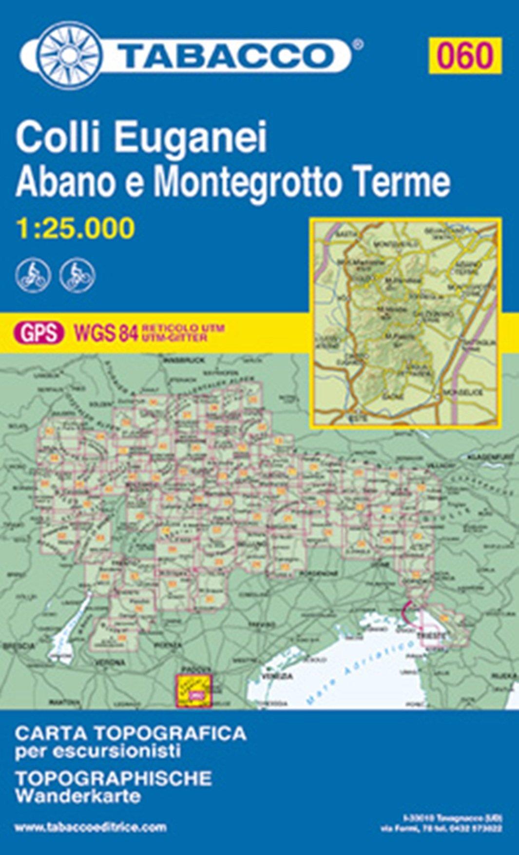 Monti Berici Cartina Italia.Amazon It Colli Euganei Abano Terme Montegrotto Terme Este 60 Tabacco Libri