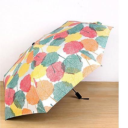 Paraguas de madera Yunhigh de arce resistente al viento, minibolsillo plegable, paraguas plegable,