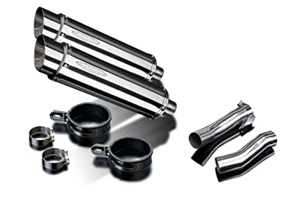 """Kawasaki Concours 14 GTR1400 2008-2017 Exhaust Delkevic 8/"""" Stainless Muffler"""