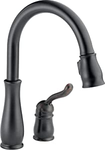 Delta Faucet Leland Single-Handle Kitchen Sink Faucet with Pull Down Sprayer and Magnetic Docking Spray Head, Venetian Bronze 978-RB-DST