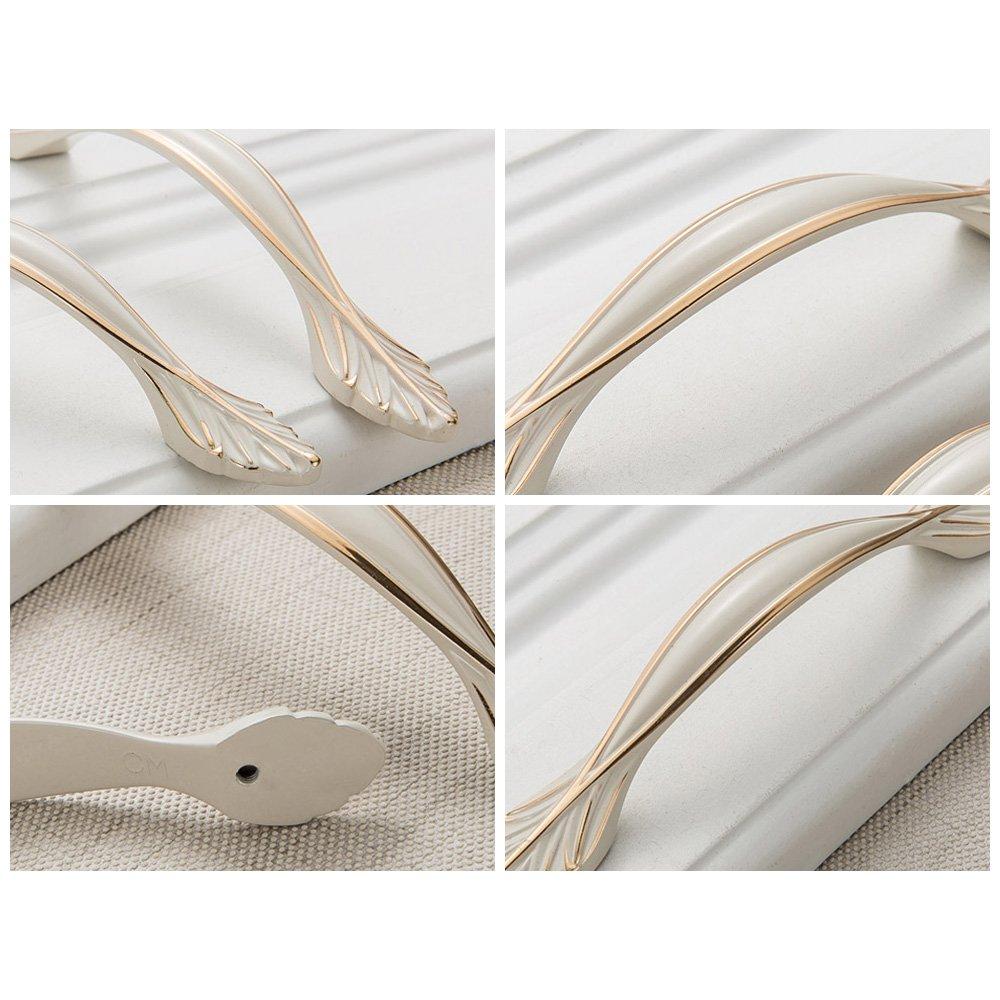 8210-96 Zhi Jin 4pcs elegante blanco tiradores de tirador para puerta de armario Hardware armario caj/ón asas muebles Decor