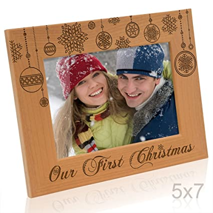 Amazon Kate Posh Our First Christmas Picture Frame 5x7