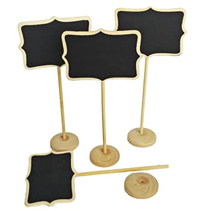 Pizarra Signs: disfraz de 12 Mini pizarras con mesa soporte ...