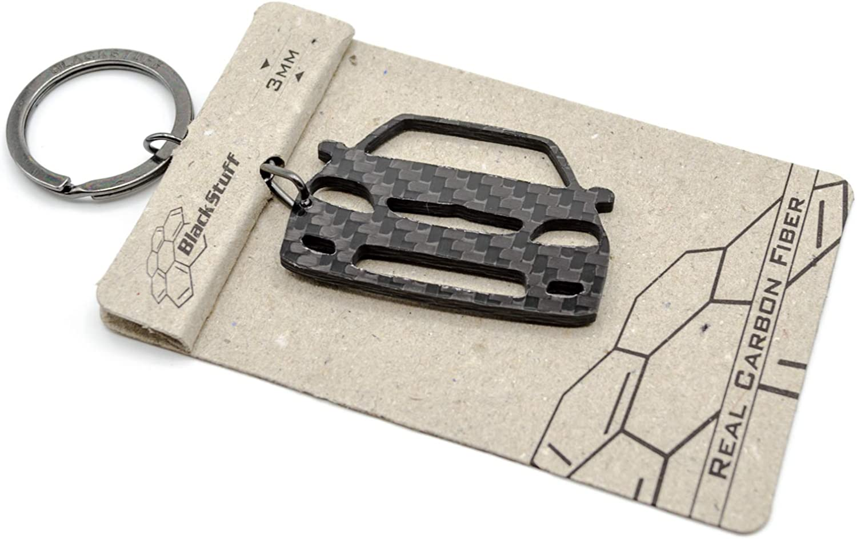Blackstuff Carbon Karbonfaser Schlüsselanhänger Kompatibel Mit Saxo Vts Mk2 Bs 752 Auto