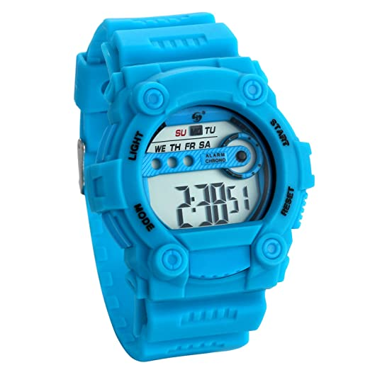 JewelryWe Relojes para Niños Niñas Reloj Deportivo Digital Con Luces Reloj Infantil Azul, Buen Regalo: Amazon.es: Relojes