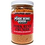 Pork King Good Stupid Hot Spicy Pork Rind Breadcrumbs (Low Carb Keto Diet)! Perfect For Ketogenic, Paleo, Gluten-Free…