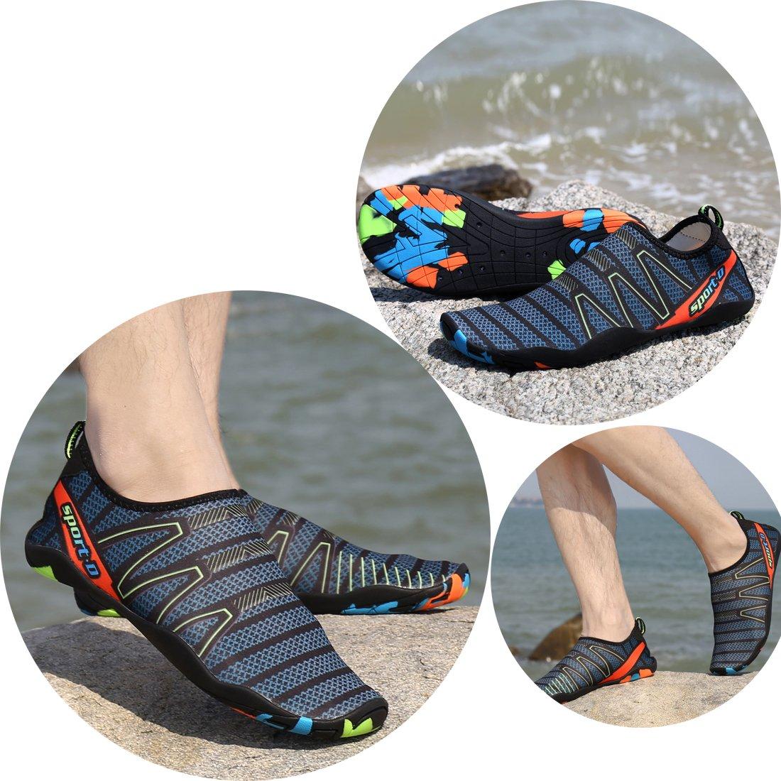 Zapatos de agua Kuuland Secado rápido descalzo Aqua Socks Beach Swim Pool  Surf Zapatos para nadar Buceo caminando Yoga Hombres Mujeres Verde e51733fd283