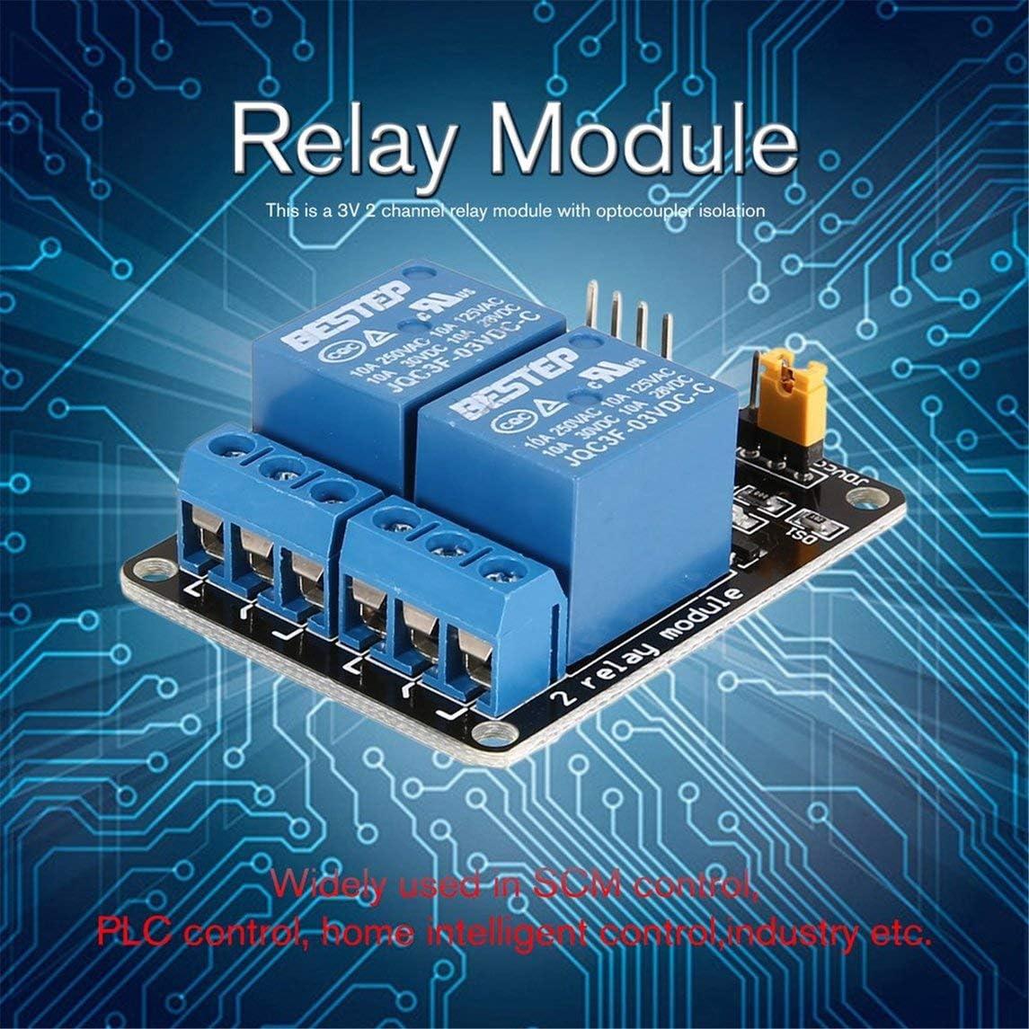 sdfghzsedfgsdfg 3V 2 canaux relais module interface carte bas niveau d/éclencheur optocoupleur pour Arduino SCM PLC Smart Home commutateur de commande /à distance