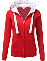 J.TOMSON Women's Color Block Zip Up Hoodie
