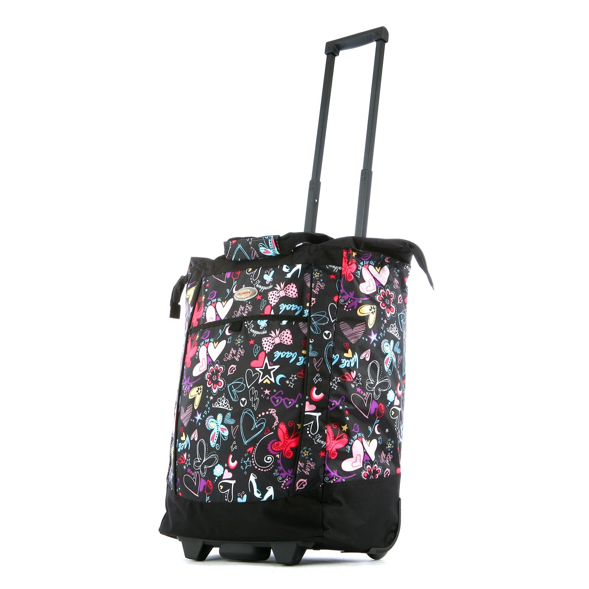 Olympia Fashion Rolling Shopper Tote - Butterfly, 2300 cu. in.