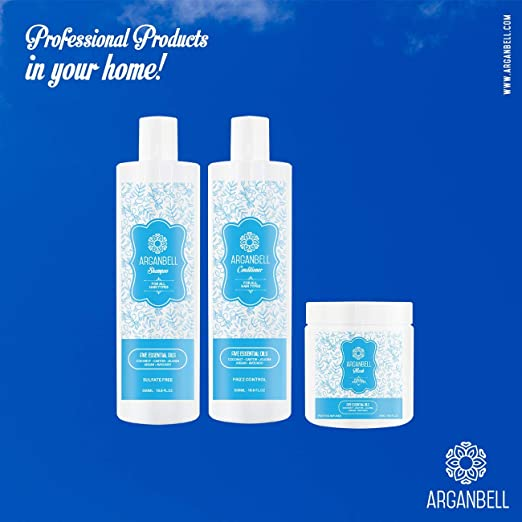 Amazon.com : ARGANBELL Conditioner For All Hair Types Created With a Mix of 5 Wonderful Oils - Coconut, Castor, Jojoba, Argan, Avocado.