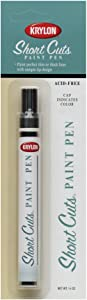 Krylon KSCP913 Short Cuts Paint Pen, Gloss White, .33 Ounce