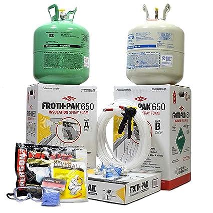 Dow espuma Pak 650, completo Kit de aislamiento de espuma de spray, clase A