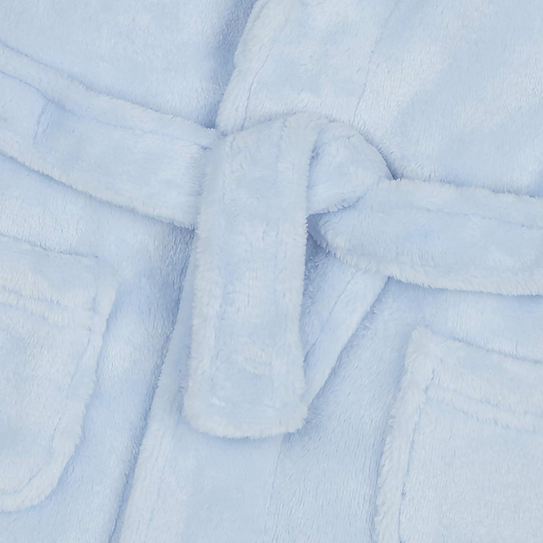 Ages 6-24 Months Soft Plush Flannel Fleece Hooded Bath Robe Metzuyan Baby Boys /& Girls Unisex Dressing Gown