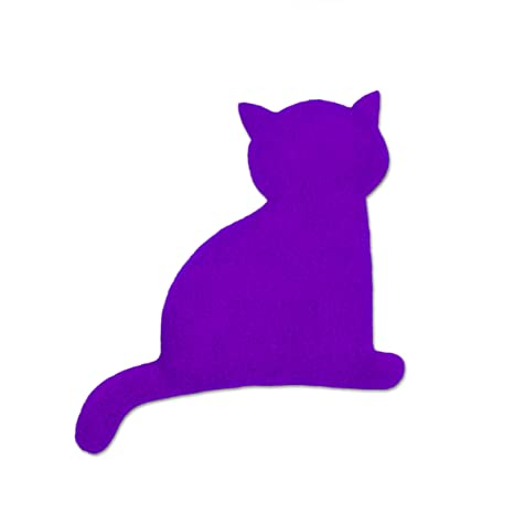 Leschi Wärmekissen   36494   Die Katze Minina   sitzend   klein (Wärmekissen für Babys und Kleinkinder) Farbe: Purpur/Mittern