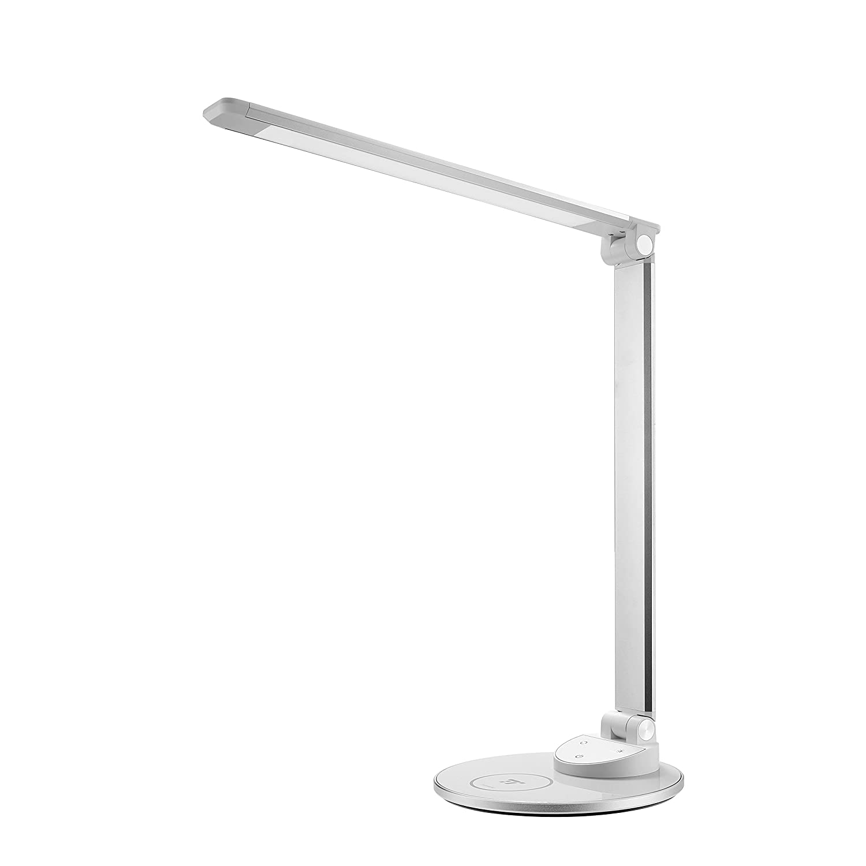 LED Schreibtischlampe mit kabelloser Ladestation TaoTronics HyperAir-Technologie 7.5W Schnellladegerät für iPhone X   8 8 Plus, 10W Schnellladepad für Galaxy S8   S7   Note 8 & alle Qi-fähigen Geräte