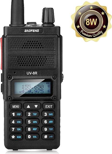 BAOFENG UV-6R Dual Band UHF//VHF 2 Way Ham Radio 136-174//400-520Mhz Walkie Talkie