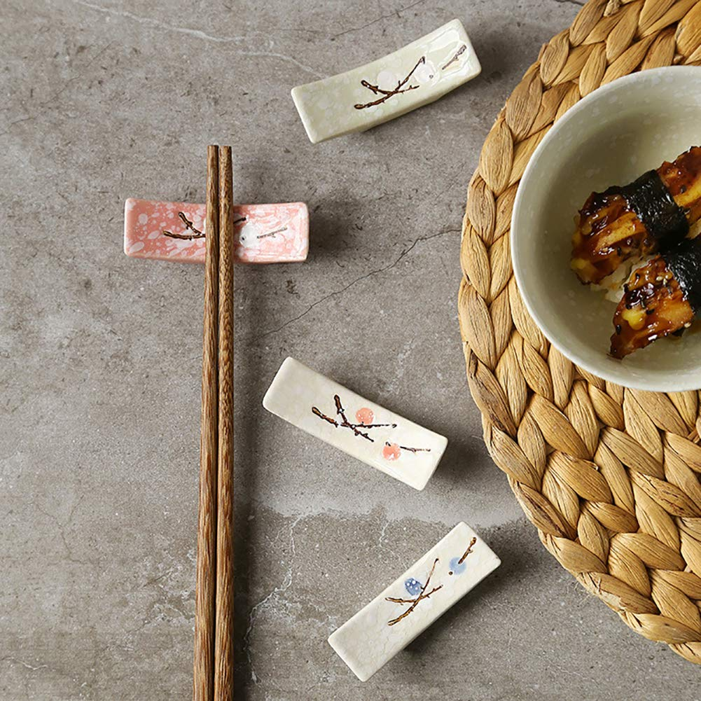 4 Piezas Outtybrave Soporte para Cuchara de cer/ámica Japonesa
