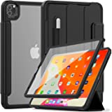 Weuiean for iPad Pro 11 Inch 2020 Clear Case, Transparent Rugged Back Case with Soft Edge, Smart Wake/Sleep Trifold Stand Cla