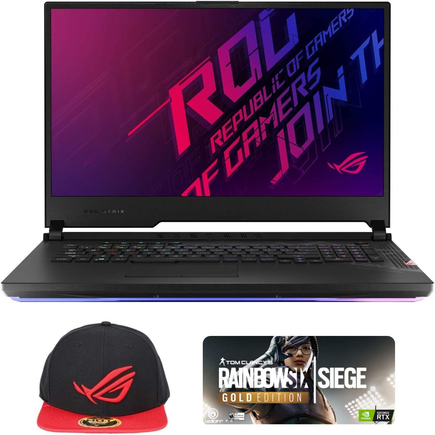 "ASUS ROG Strix Scar 17 G732LXS-XS94 Enthusiast (i9-10980HK, 32GB RAM, 2TB NVMe SSD, RTX 2080 Super 8GB, 17.3"" FHD 300Hz 3ms, Windows 10 Pro) Gaming Notebook"