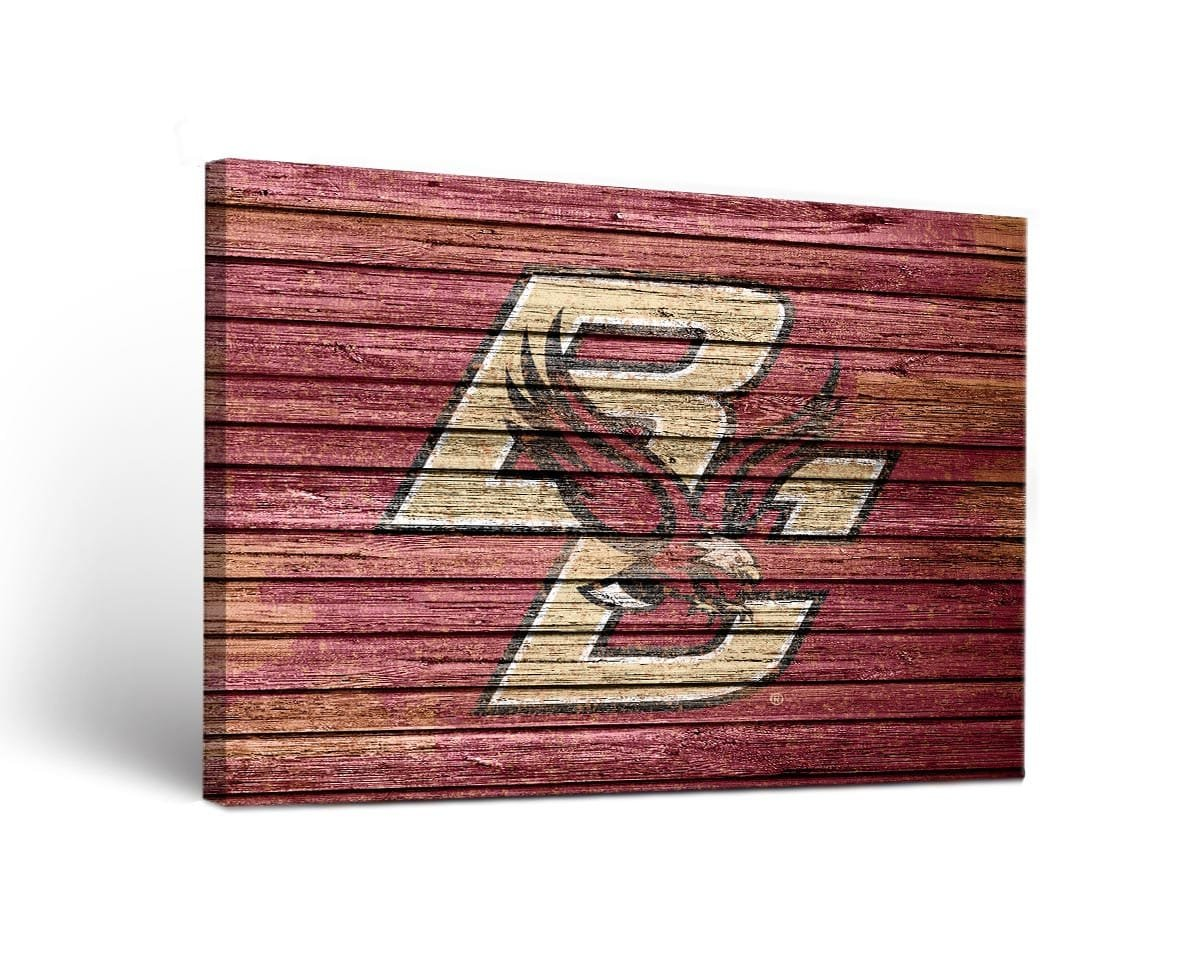 Boston College Eagles Canvas Wall Art Weathered Design (36x48)