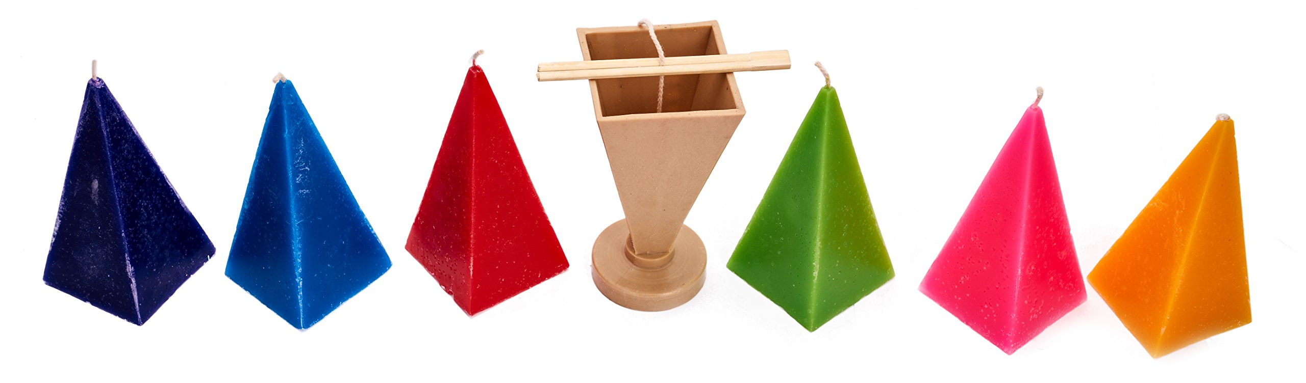 Candle Shop - Pyramid mold - height: 6.3 in, width: 2.7 in - 30 ft. of wick included as a gift - Plastic candle molds for making candles by Candle Shop (Image #3)