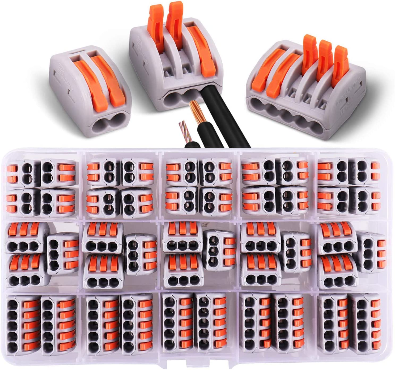 15 pinces 3 voies 45 connecteurs /électriques avec levier de fonctionnement 20 pinces 2 voies 10 pinces 5 voie