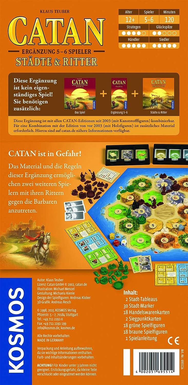 Kosmos 6955140 - Die Siedler von Catan, de 5 hasta 6 jugadores: Teuber, Klaus: Amazon.es: Juguetes y juegos