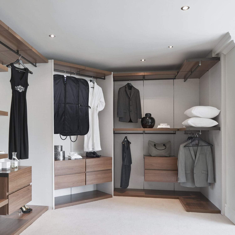 Housses Costumes Voyage Pliable Sac Protection V/êtements en Feutre Business pour Transport Chemises Pantalons Hommes Femmes 100 x 60 cm Gris