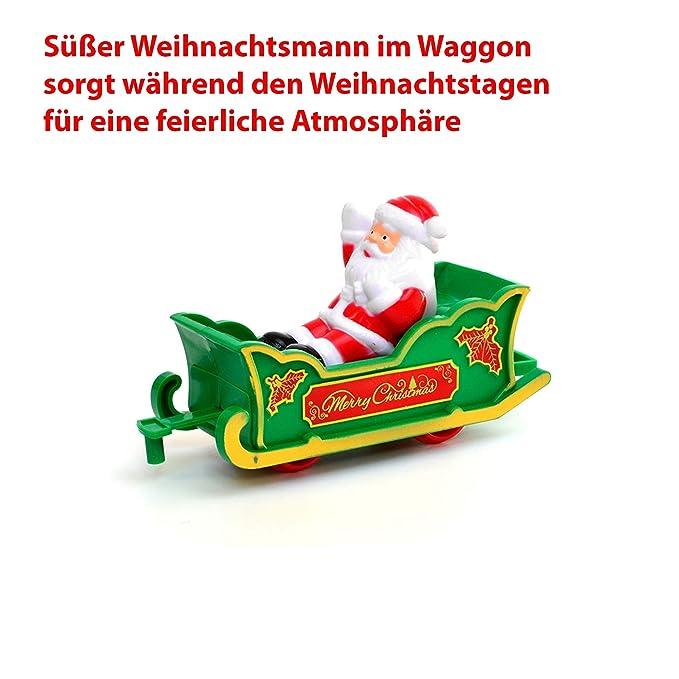 HSP Himoto eléctrica Ferrocarril Navidad Santa Claus Kit de iniciación, Tren, Locomotora de Vapor, Simulación de Sonido, Modelo de Locomotora, Kit Completo ...