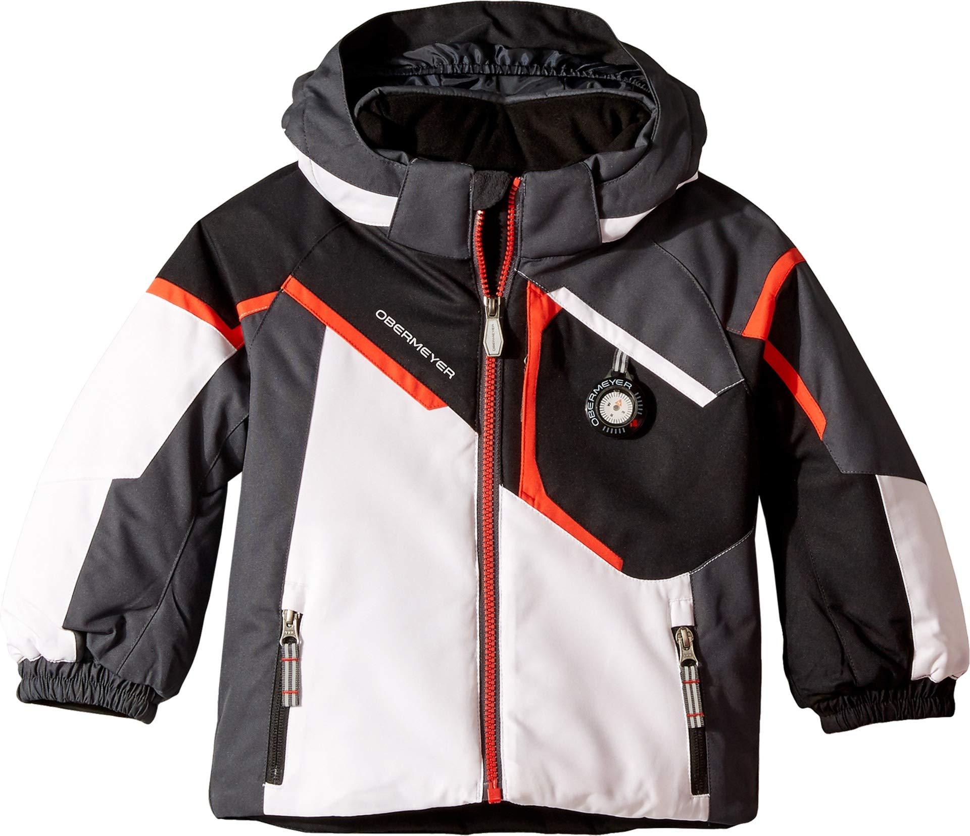 Obermeyer Kids Baby Boy's Endeavor Jacket (Toddler/Little Kids/Big Kids) White 4T