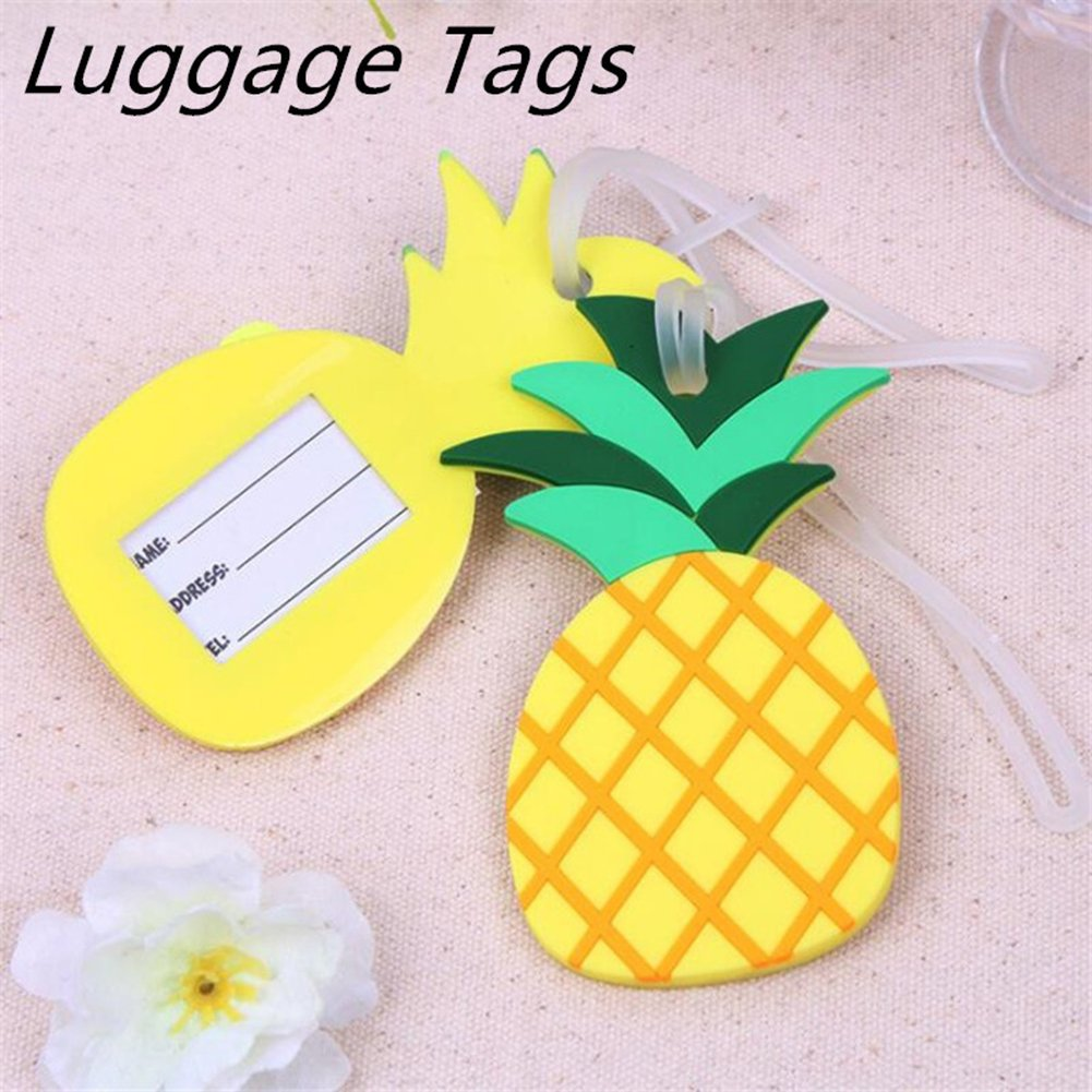Amazon.com: Funny Pineapple Travel Holiday Suitcase Luggage Tags Labels Name Address Identifier: Clothing