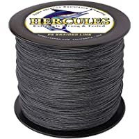 Hercules Cost-Effective Super Cast 8 Strands Braided Fishing Line 10LB to 300LB Test for Salt-Water, 328Yards 300M, Diam.#0.12MM-1.2MM, Hi-Grade Performance, Variety Colors