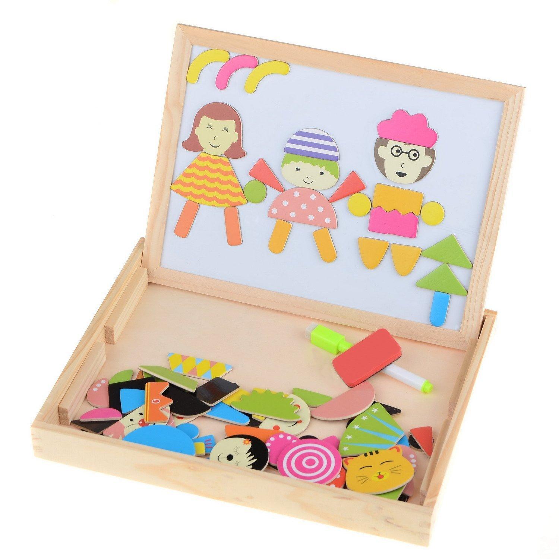 Youpin Multifunktionale Writing Board Magnet Puzzle Staffelei Spielzeug Holz-Spielzeug-Skizze-Auflage-Spielzeug-pädagogisches Spielzeug-Pairing Spielzeug Kreative Peg Puzzle Brain Game Lernspielzeug