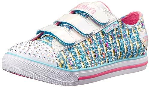 Skechers Chit Chat Secret Chic - Zapatilla Deportiva de Lona Niña: Amazon.es: Zapatos y complementos