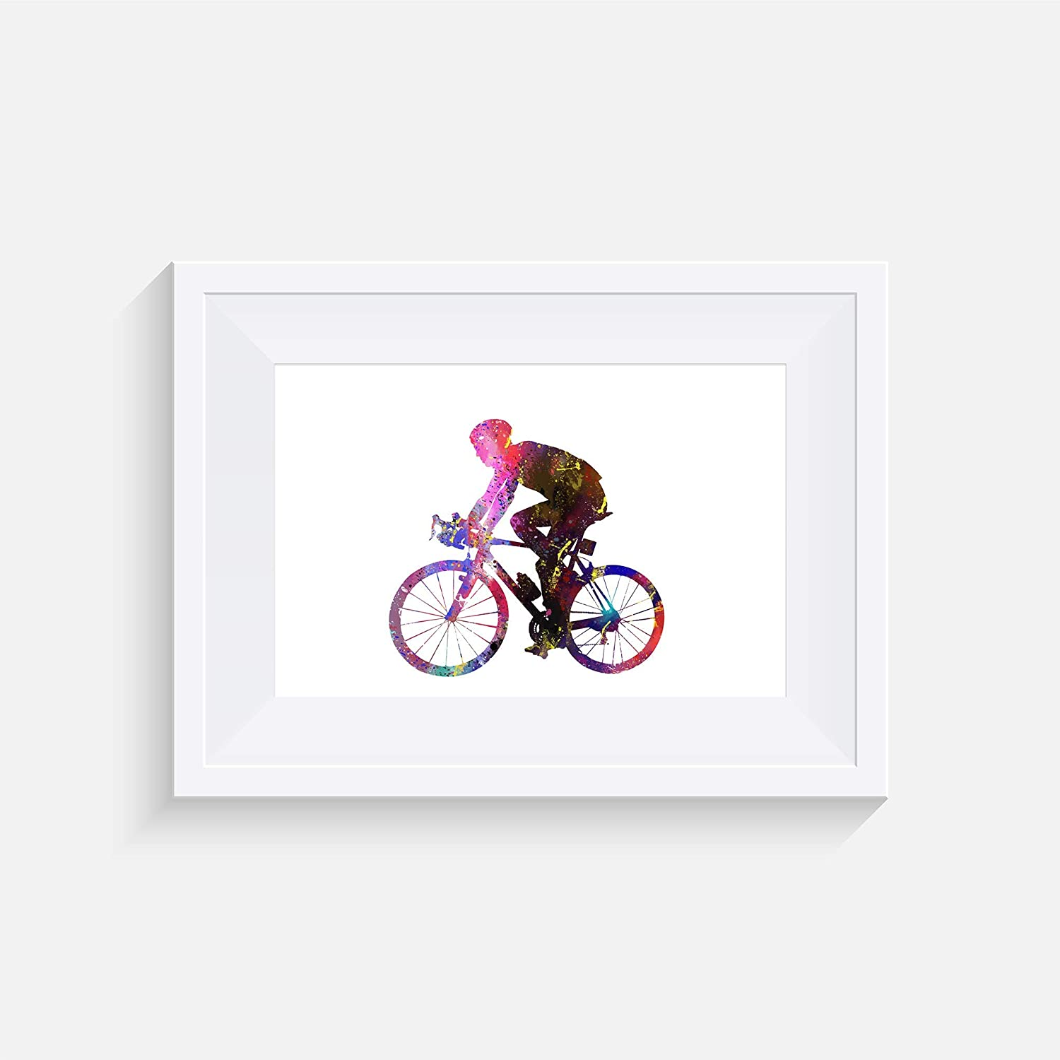 Poster watercolour Wall art- various Sizes Frame Not Included Cycling Inspired Print