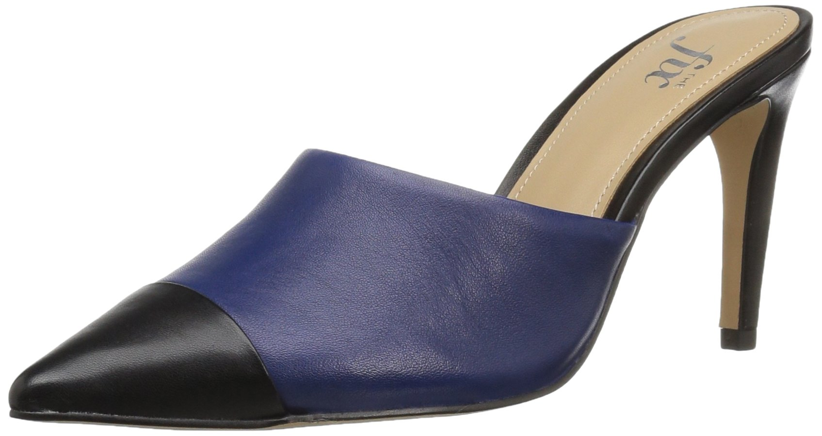 The Fix Women's Jenkins Choked-up Pointed Toe Mule,Summer Navy/Black,8 B US