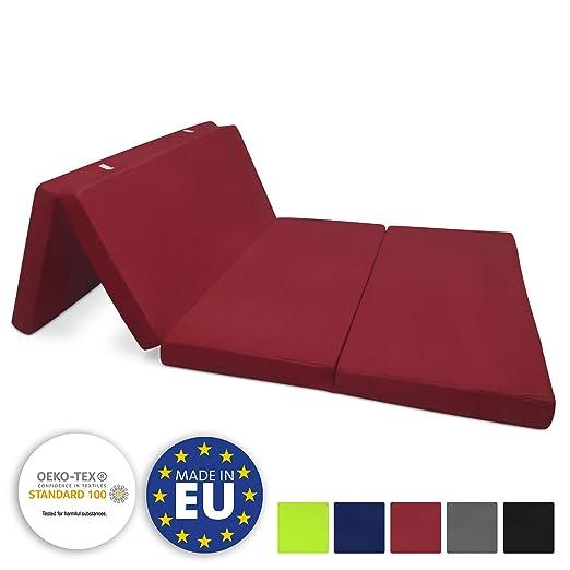 Beautissu Cómodo colchón Plegable Campix Auxiliar futón 120 x 195 ...