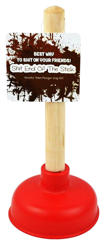 Fairly Odd Novelties Shit End Of The Stick, Novelty Gag Gift Prank Miniature Plunger FON-10222