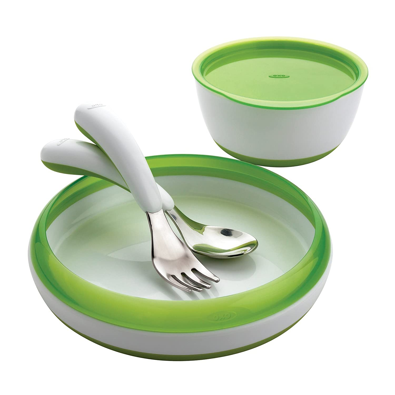 Amazon.com  OXO Tot 4-Piece Feeding Set Green  Baby Dinnerware Sets  Baby  sc 1 st  Amazon.com & Amazon.com : OXO Tot 4-Piece Feeding Set Green : Baby Dinnerware ...