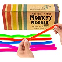 Impresa Products 5-Pack of Stretchy String Fidget / Sensory Toys (BPA/Phthalate/Latex-Free) - Stretches from 10 Inches…